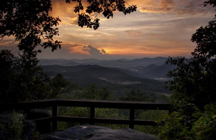 Blackrock Mountain Overlook Sunset